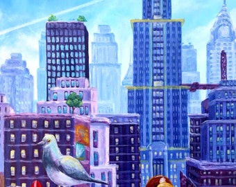 Mario Odyssey - New Donk City - Painting - Print