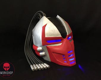 Sektor helmet from the game Mortal Kombat 3 / 9 (classic skin)