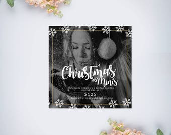 Snowflakes Christmas Mini Session Template | Photography Template | Photographer Resources