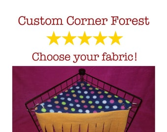 Corner Forest/Curtain! Fun hidey for guinea pigs, hedgehogs, and other small pets!