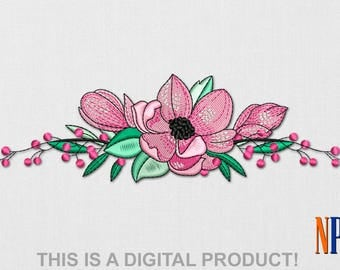INSTANT DOWNLOAD - Sakura Blossom machine embroidery design. Flowers embroidery. Plants embroidery. Embroidery file