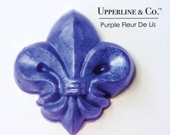 Purple Soap, Lavender Soap, Fleur de lys, Fleur de Lis Soap, New Orleans, Wedding Favor, Party Favor, Guest Soap, Royal, Upperline and Co