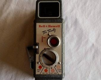 Vintage  Bell & Howell Two Twenty 8mm Home Movie Camera