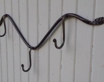 forged wall hooks leaf hook hanger 3 hook hanger