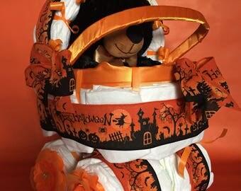 halloween theme diaper carriage halloween baby diaper cake