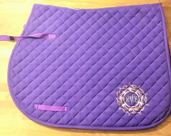 Personalized Saddle Pad