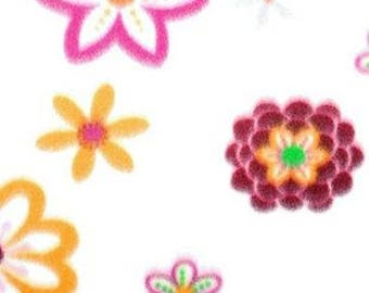 Daisies On Fuchsia Fleece Tied Blanket