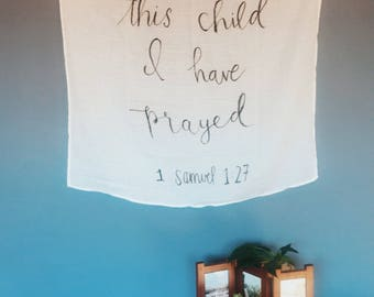 Bible Verse Baby Swaddle/Wrap/Blanket/Wall Hanging