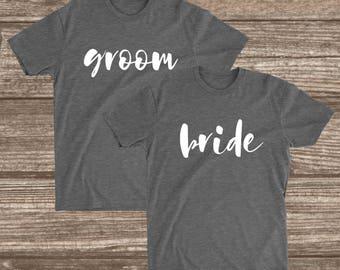 Bride & Groom Shirts -  Matching Couples Shirts - Wedding Party Shirts - Unisex - Women's - T-Shirts