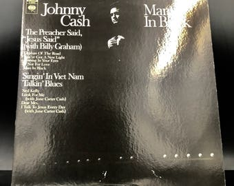 JOHNNY CASH VINYL Record - Man In Black - Rare Vintage Vinyl Record - Collectible Lp - Amazing Condition! - Great Gift!