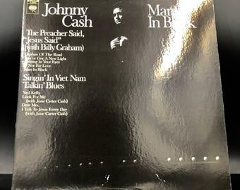 JOHNNY CASH RECORD - Man In Black - Rare Vintage Vinyl Record - Collectible Lp - Amazing Condition! -  !, Sale