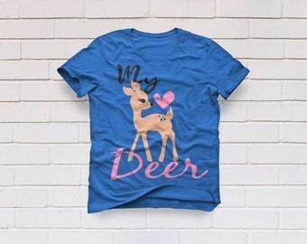 My deer svg, Deer svg, little deer svg, valentine svg, girl svg, clip art, clipart, Svg, Dxf, Eps, Png, valentines day svg, cut file, svg