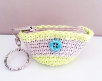 Keyring crochet cotton for token Caddy or small change
