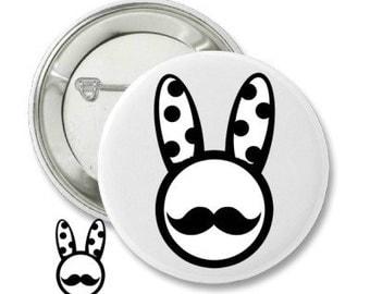 Bunny button Pin /*دبوس شركة هانا *الارنب