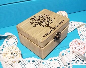 Wedding Ring Box-Ring Bearer Pillow-Ring Box-Wedding Ring Pillow-Wooden Wedding Ring Box with Initials-Rustic Ring Box-Proposal Ring Box