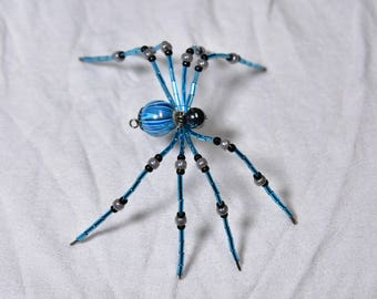 Marbled Blue Beaded Spider