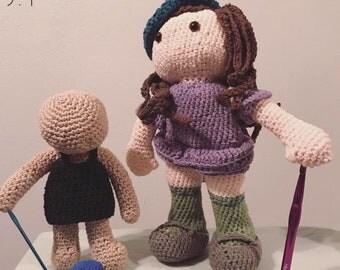 Monin Doll Crochet / Amigurumi / Customized doll / Custom Doll / Love Collectible
