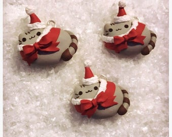 Pusheen the cat Holiday Christmas Charm