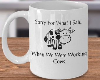 Funny Cow Mug, Cow Mug for Her, Cow Mug Gift, Gift for Cow Lover, Cow Lover Gifts, Cow Gift Idea, Cow Coffee Mug, Love Cows Mug, Cow Cup