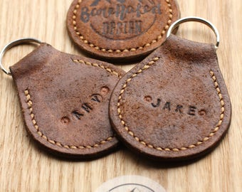Logo Key Fob - 100% Leather Hand Made - Personalised