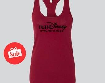 Run Disney Every Mile is Magic Tank Top. Cute Disney Tank. Disney Gift. Custom Disney Shirts
