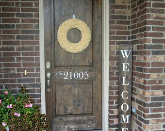 Welcome sign - Front Porch Decor - Farmhouse Decor - Farmhouse Sign