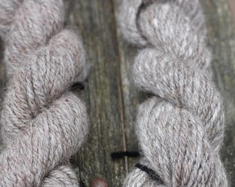Grey/Brown 3 ply handspun 100% alpaca yarn