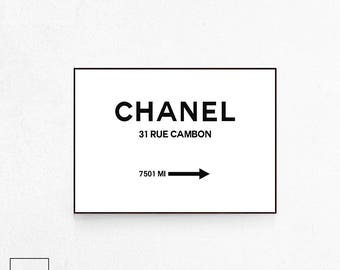 Coco Chanel Print, Chanel Poster, Coco Chanel, Chanel Wall Art, Fashion Poster, Fashion Print, Fashion Wall Art, Kate Moss Print, Download.