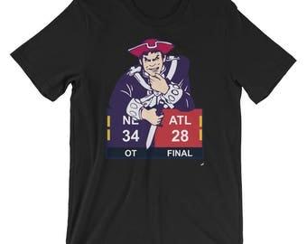 New England Patriots 3 Atlanta Falcons 28 NFL Super Bowl T-Shirt