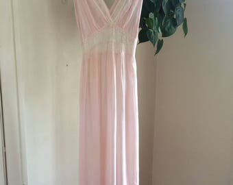 RESERVED 1930's Sheer Pink Slip