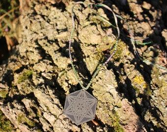 Metatron's Cube - Slate Necklace