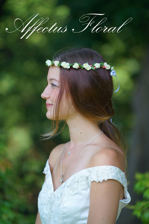 White Rose Flower Crown Kid Flower Crown Bridal Flower Crown