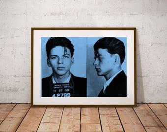 Frank Sinatra Mugshot Wall Art