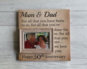 anniversary framegift for years50th for parents