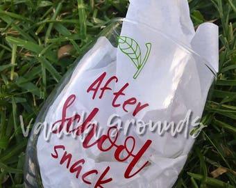 21 oz Stemless wine glass teacher after school snack
