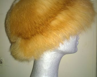 Real fox fur women's hat