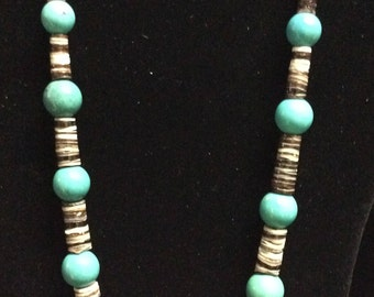 Absolutely Beautiful Vintage Jasper and Turquoise Necklace