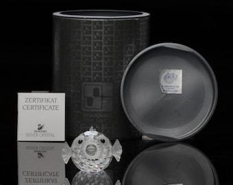 Swarovski Silver Crystal ~ Blowfish ~ Boxed-Vintage Crystal-Puffer Fish-Fine Crystal