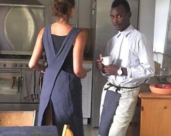 Linen Japanese apron