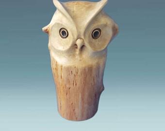 Owl figurines, wooden owl sculpture, owl gift, wood carved owl, gift idea, owl wood carving, wooden bird statue, owls, wood owls