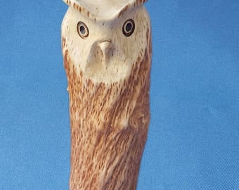 Wooden owl, wood owl, wooden wedding gift, owl figurine, hand carved owl, vintage owl, owl collectible, hand carved owl, owls, owl figures