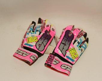 AXO Sport 1990s BMX Gloves Motorbike Motorcross Dirt Bike Gloves Size Small Vintage 1990s