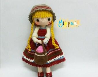 Crochet garage, Crochet doll pattern / Amigurumi doll pattern - JADE