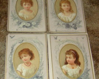 4 Pieces of Victorian Scrap (Pretty Girls)