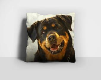 Rottweiler Pillow, Rottie Pillow, Throw Pillow, Rotty Pillow, Dog Pillow, Home Decor, Decorative Pillow, Pillow Case, Pillow Cover