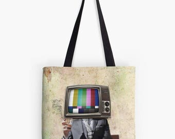 Telly Tote, Telly Bag, TV Tote, Media Bag, Media Purse, Media Tote, Mad Men Bag, Mad Men Purse, Shopping Bag, Book Bag, Recycle Bag