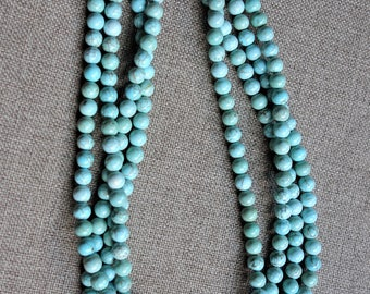 Boho, double stranded turquoise Charleston necklace