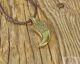 Replica, Drinking Horn, Horn Pendant, Slavic, Viking, Viking Pendant, Amulet, Talisman, Ancient Jewelry, LARP, SCA, Reenactment,
