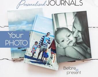Custom Hard Cover Journal, Custom Photo Journal, Wedding Planner, Blank Journal, Photo Album Notebook, Trip Journal