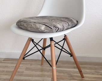 Wooden Optics seat cushion-upholstered chair pad-chair cushion with zipper-Eames chair-inauguration gift-pillow-inner pillow